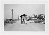 [Guardhouse or checkpoint, Rohwer, Arkansas, August 19, 1944]