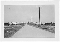 [Dirt road through camp, Rohwer, Arkansas, August 19, 1944]