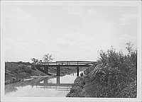[Bridge over stream, Rohwer, Arkansas, September 1, 1944]