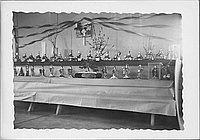 [Rows of dolls in Girl&#39;s Day display, Rohwer, Arkansas]