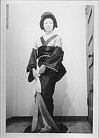 [Woman in character for Kabuki play, full-length portrait, Rohwer, Arkansas]