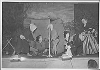 [Couple apprehended by samurai and two men in Kabuki play, Rohwer, Arkansas]
