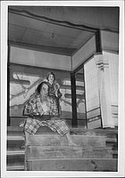 [Warrior and commoner in Kabuki play, Rohwer, Arkansas, November 12, 1944]