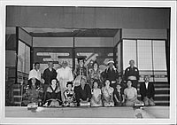 [Kabuki cast on stage, Rohwer, Arkansas, November 12, 1944]