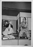 [Samurai and bound commoner in Kabuki play, Rohwer, Arkansas, November 12, 1944]