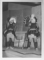 [Palanquin porters in Kabuki play, Rohwer, Arkansas, 1944]