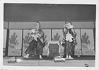 [Two male dancers in Kabuki play, Rohwer, Arkansas]
