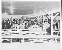 [Funeral gathering, Rohwer, Arkansas, October 11, 1944]