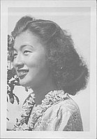 [Young woman in ruffle collared dress, head and shoulder portrait, September 3, 1944]