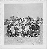 [Group of women, portrait, Rohwer, Arkansas, November 7, 1944]
