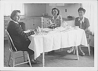 [Three women having tea, Rohwer, Arkansas, November 3, 1944]