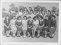 [Group of women posing outdoors, Rohwer, Arkansas, November 4, 1944]