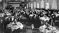 [Welcome banquet for Renshi Shojo Ohtani at Fairmont Hotel (Part of BCA 35th anniversary), San Franciso, California, November 8, 1934]