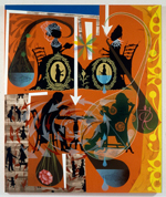 Lari Pittman, </em>This Discussion, Beloved and Despised, Continues Regardless<em>, 1989. Acrylic and enamel on wood panel
