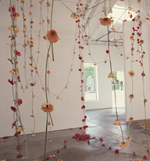Anya Gallaccio<br/>Detail of installation view<br/>In a Moment, 1997<br/>365 gerbera daisies