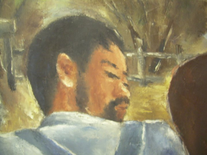 'My Papa,' painting by Henry Sugimoto (92.97.139)