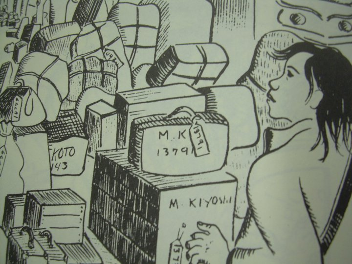 Drawing from 'Citizen 13660' by Mine Okubo (2007.62)