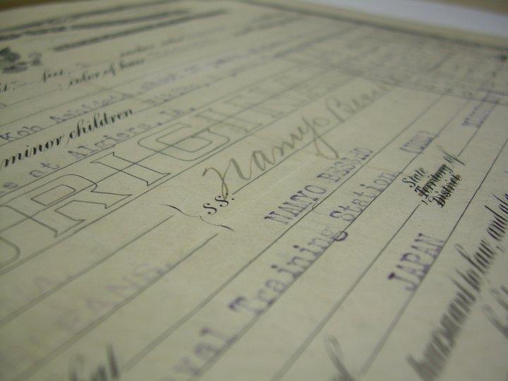 Namyo Bessho's Certificate of Naturalization