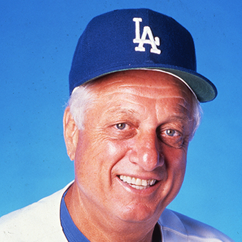 Tommy Lasorda at the Baseball Hall of Fame