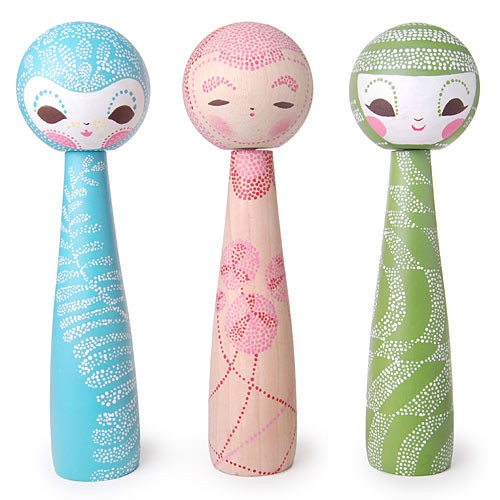 Mix & Match, Collect & Play Kokeshi by Christina Conway