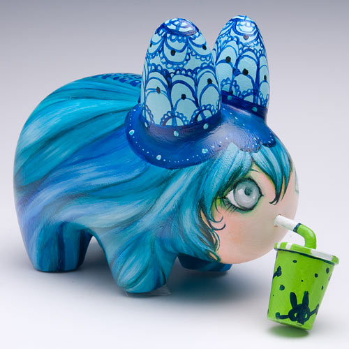 Radioactive Puffin Juice custom Labbit by Camilla D'Errico