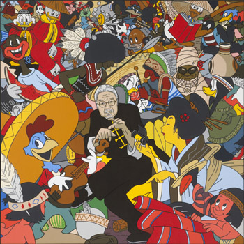 AMERICAN VS. DISNEY STEREOTYPES (2010) by Roger Shimomura