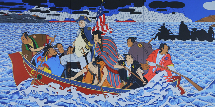 SHIMOMURA CROSSING THE DELAWARE (2010) by Roger Shimomura