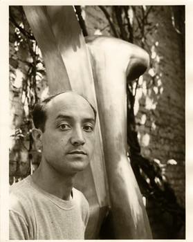 Isamu Noguchi in his New York City Studio, 1943