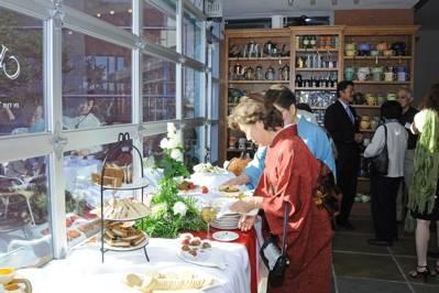 Upper Level Members Reception at Chado Tea Room | Living Flowers ...